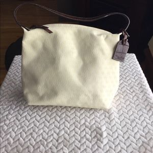 Dooney & Bourke cream canvas bag